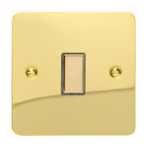 Varilight JFVES001 Ultraflat Polished Brass 1 Gang Touch Dimming Slave (use with V-Pro Master)